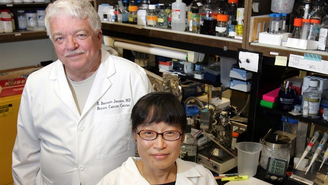Two University of Louisville cancer researchers, Drs. A. Bennett Jenson and Shin-je Ghim, have helped to develop a vaccine that has proved to be effective against two strains of a virus that can lead to the development of types of cervical cancer.