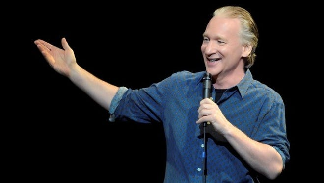 Stand-up comedian and late-night talk show host Bill Maher will perform on March 19 at the Plaza Theatre, Downtown.