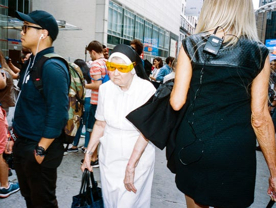 Street photographer Daniel Arnold captured a nun in