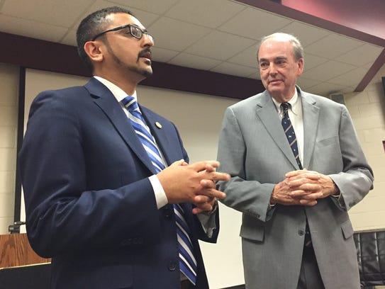 Virginia Secretary of Education Atif Qarni speaks as