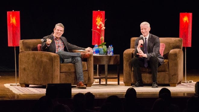 """Andy Cohen, left, and Anderson Cooper are bringing their """"AC2"""" tour to Louisville."""