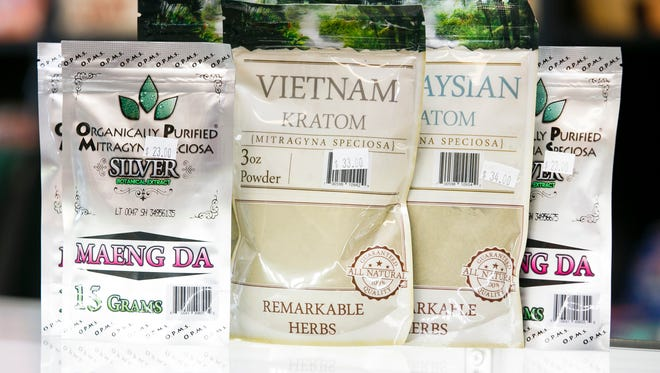 Kratom, seen here in packages containing powder or capsule forms and sold in local shops like Dizzy's Smoke Shop, is under scrutiny by the Oregon Legislature. Made from the leaves of the tree Mitragyna speciosa, the herb's supporters say it helps with opioid withdrawal, pain, fatigue and other ailments.