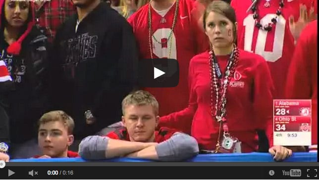 The Ohio State fan (right) in question.