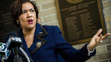 """""""We thank the residential and commercial customers who have complied with the program and are making payments,"""" Flint Mayor Karen Weaver said Monday in a statement. """"I understand this is a difficult situation for many people, and we as city leaders are facing some hard decisions as well."""""""