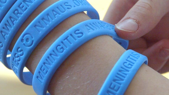 Bracelets sold to raise money for meningitis awareness. A student at the Elms Elementary School in Jackson is suspected of contracting viral meningitis, according to health officials.