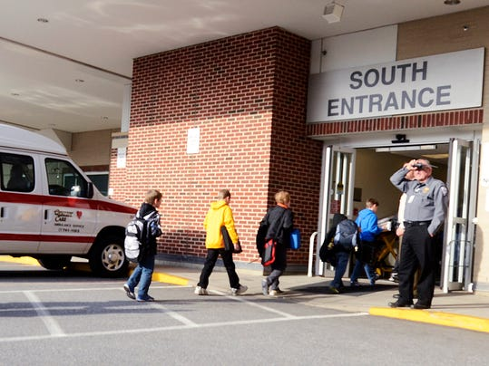 Pictured here is York Hospital's South entrance. A bacterial infection at the hospital infected at least eight open-heart surgery patients.