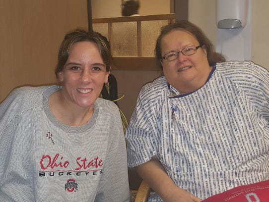 Angela Allen, left, of Wayne, decided to donate a kidney