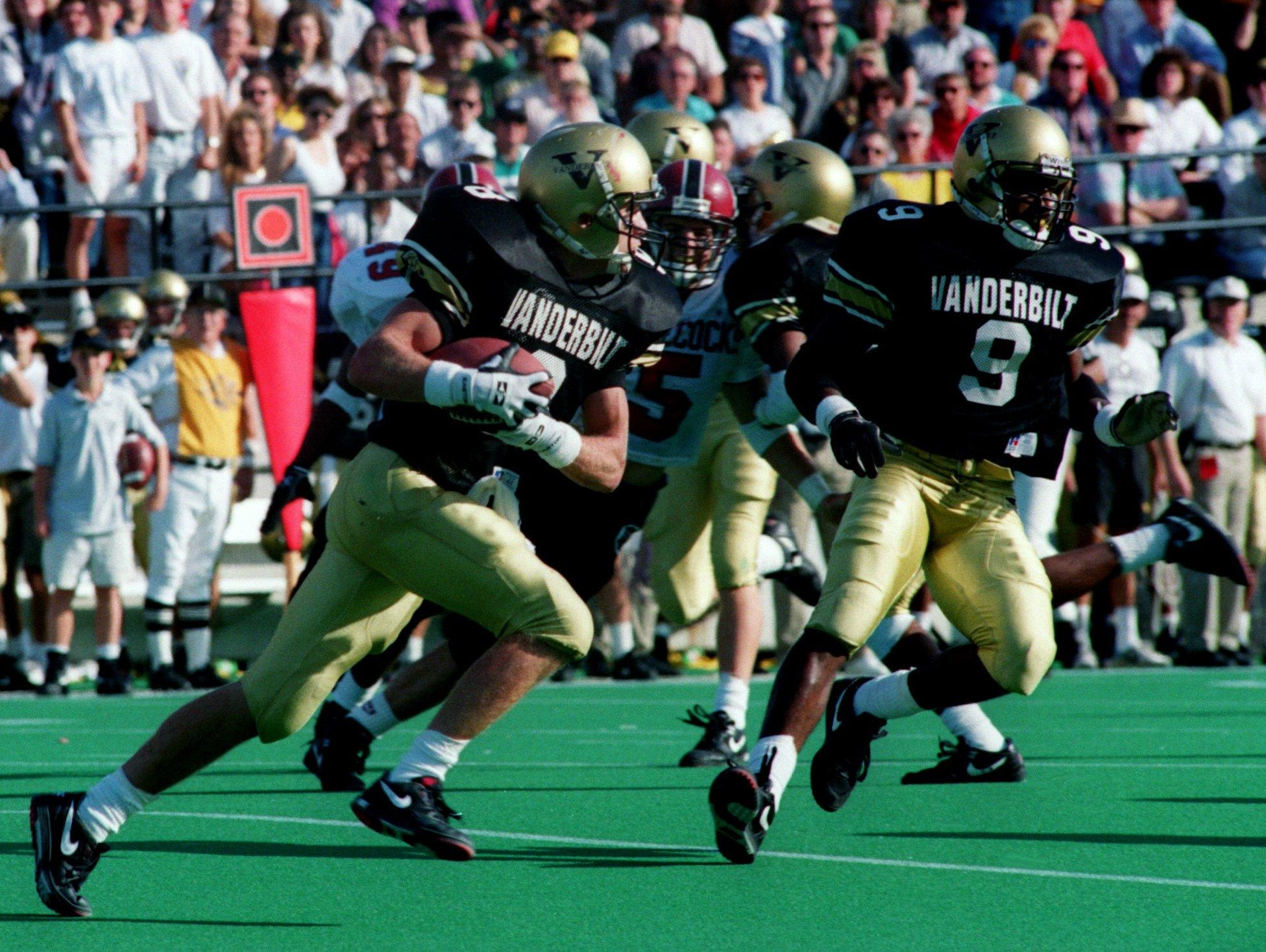 Vanderbilt's Jeff Brothers returns a kick during a 1992 game. Brothers, a former college quarterback, will lead his Nashville Christian squad in the 1A state title game Friday.