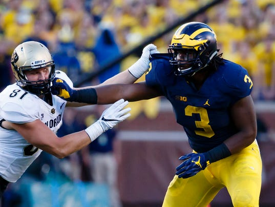 NCAA Football: Colorado at Michigan
