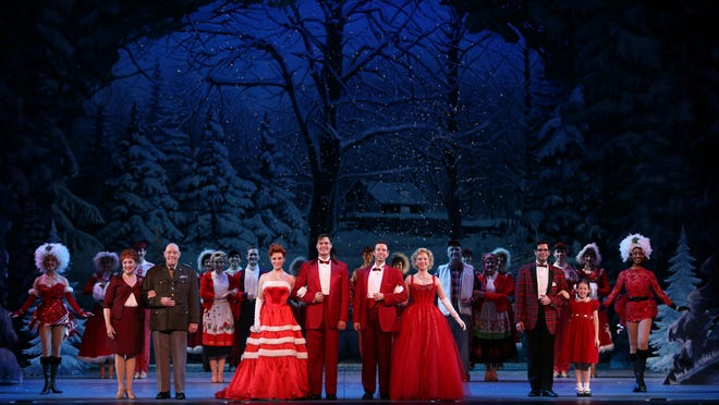 The cast of Irving Berlin's White Christmas.