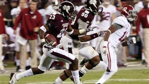 Taveze Calhoun finished second on Mississippi State with three interceptions in 2013.