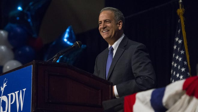 Senate candidate Russ Feingold, during the 2016 Democratic Party of Wisconsin State Convention at the Radisson Hotel & Conference Center in Green Bay, Wis., on June 3, 2016.
