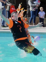 Answer Man John Boyle is no stranger to taking risks. Here he is decked out in a Burning Questions costume participating in a polar plunge.
