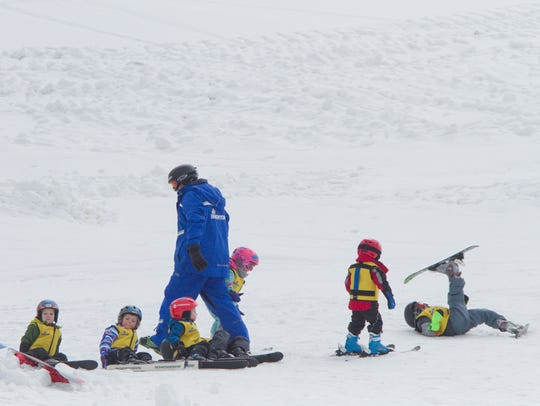 Young skiers learn techniques in a variety of ways