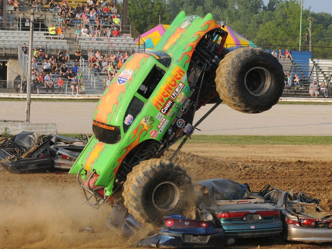 Sunday, August 3, 2014  Monster Trucks at the Richland County Fair