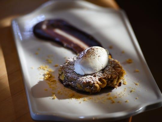 Photo of a Banana Latke prepared by Chef Casey