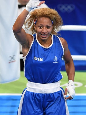 Mikaela Joslin Mayer in a women''s lightweight quarterfinal bout at Riocentro - Pavilion 6 during the Rio 2016 Summer Olympic Games.