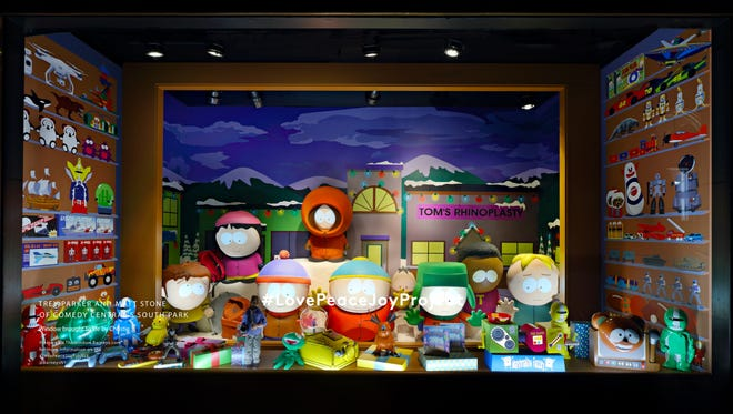 Holiday Window Trey Parker and Matt Stone of Comedy Central's South Park