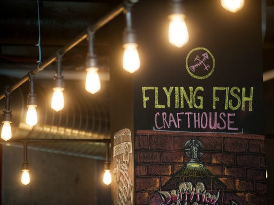 A detail of the interior of the Flying Fish Crafthouse in Philadelphia.  03.29.17