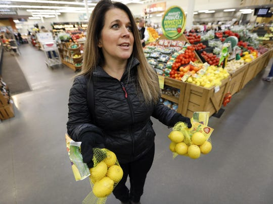 "Jamie Shae said she didn't realize there was anything special about the blemished fruit she picked up. ""I happened to see the bags of lemons,"" said the shopper."