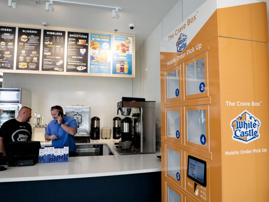 "The mobile order ""Crave Box"" is seen in 2018 at White Castle, 965 N. High St., in Columbus. Restaurant industry officials say that, for most eateries, carryout and delivery haven't come close to meeting revenue needs. Limited-capacity dining isn't much better."