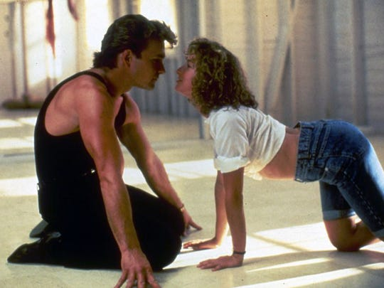 Patrick Swayze and Jennifer Grey get down and a bit