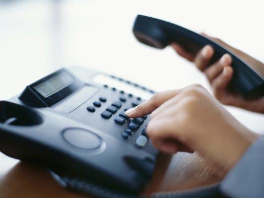 Landline phone Stock Image