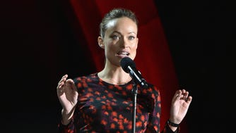 Olivia Wilde speaks onstage at the 2016 Global Citizen Festival on Sept. 24, 2016 in New York City.