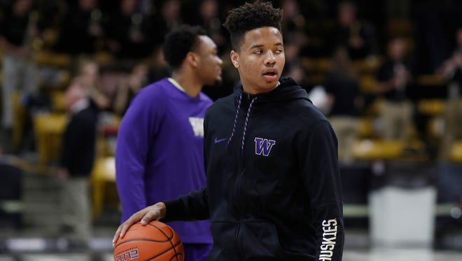 Washington guard Markelle Fultz has been ruled out of Wednesday's Pac-12 Tournament game against USC with a knee injury.