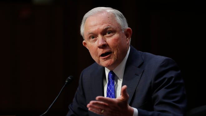 Attorney General Jeff Sessions testifies before the Senate Judiciary Committee on Capitol Hill on Oct. 18, 2017.