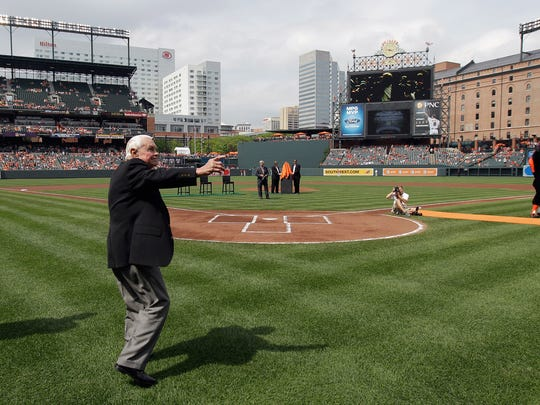 Former manager Earl Weaver, shown in Baltimore in 2012, led the Orioles to a six-game winning streak to start the 1970 MLB postseason. The Orioles won the World Series that year.