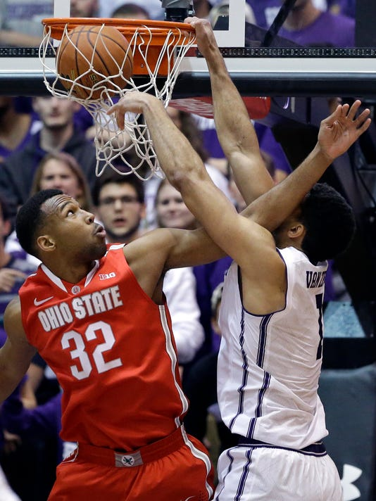 Williams scores 21, Ohio State beats Northwestern 65-56