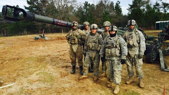 Members of 2nd Platoon, Bravo Battery, 2nd Battalion,