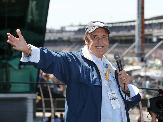 During his last appearance at the Speedway, Jim Nabors