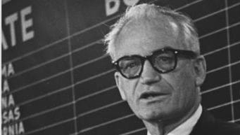 The ill-fated Republican presidential campaign of Sen. Barry Goldwater of Arizona, shown here on Election Night, Nov. 3, 1964, helped pioneer the use of political direct-mail fundraising.