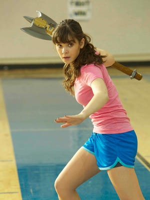 "Assassin-turned-high schooler Hailee Steinfeld arms herself in ""Barely Lethal."""