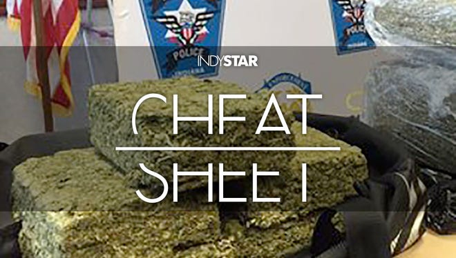 The Fishers police seized nearly 100 pounds of pot in a drug bust.