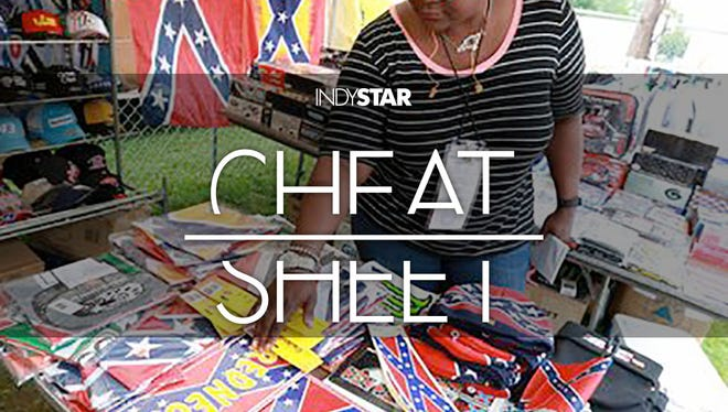 Confederate flags continued to stir strong feelings at the Brickyard 400.