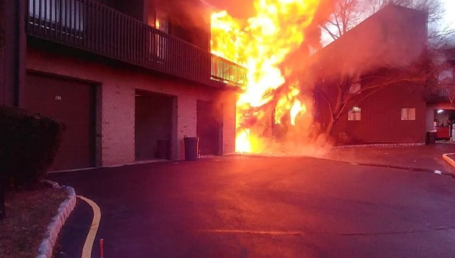 Three families were left temporarily homeless following an early morning Feb. 13 fire at a Kingsberry Drive housing complex in Franklin Township.