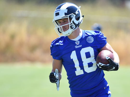 Receiver Cooper Kupp, who was picked in the third round of the 2017 NFL Draft, has made a big impact for the Rams.