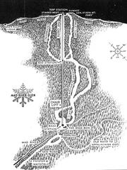 Mad River Glen's original trail map from the first season of operation in 1948-49.