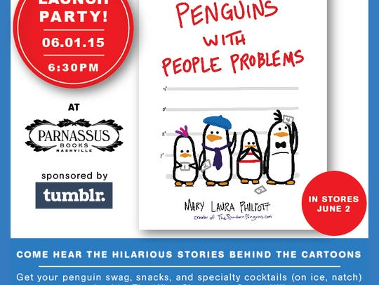 "Philpott's ""Penguins with People Problems""will launch"