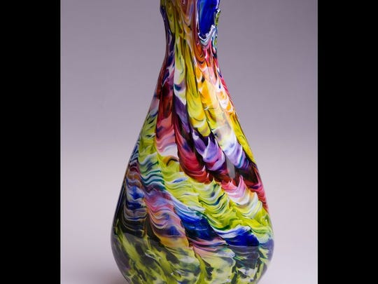 Art Fest By The Sea artwork by Randy Kuntz - hand blown glass.  OH glass artisan Randy Kuntz hand-blows each exquisitely colorful piece.