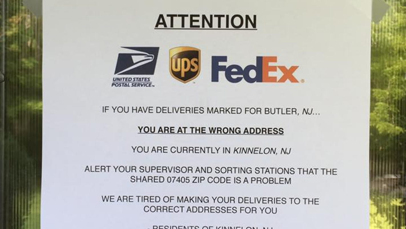 Kinnelon Wants Ammo For ZIP Code Change - Us postal zip codes new york