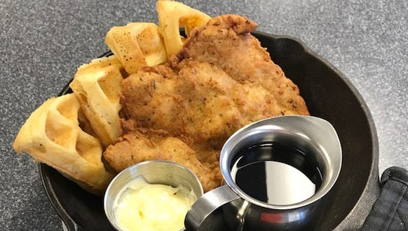 Chicken and Waffles can get your day started at The