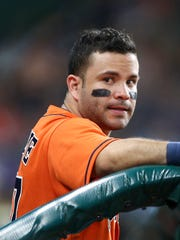 Houston Astros second baseman Jose Altuve is the leading