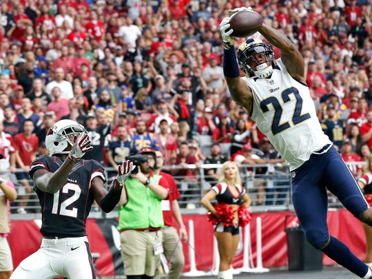 Los Angeles Rams cornerback Trumaine Johnson. Age: 27. 2016 stats: 14 starts, 57 tackles, 11 passes defensed, 1 forced fumble, 1 INT.