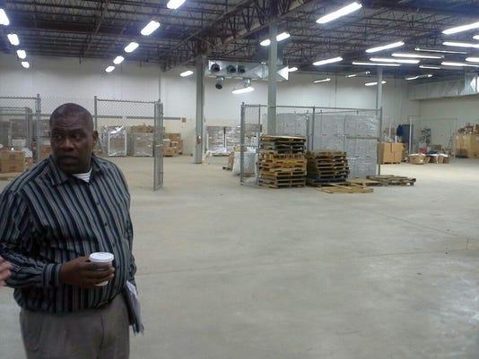 Robin Fisher in warehouse