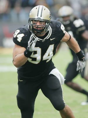 Defensive end Ryan Kerrigan had a knack for forcing fumbles during his Purdue career.