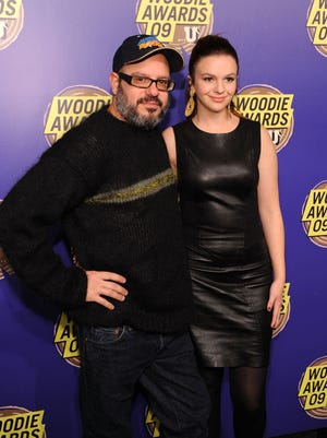 Amber Tamblyn, right, with husband David Cross, will appear in five episodes of CBS' 'Two and a Half Men.'